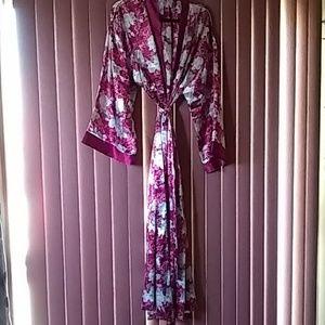 Beautiful flower satin robe